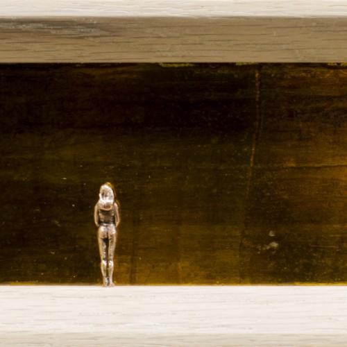 Transient, bronze, oak & mirror, 4x13x30cm, 2014