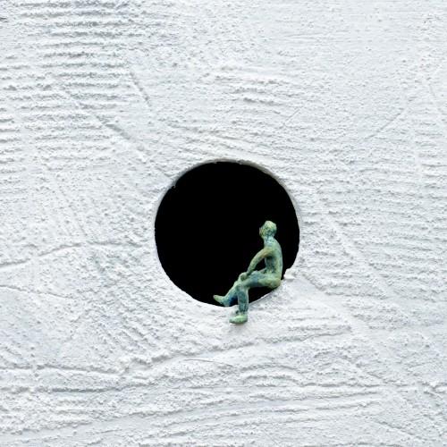 Dreamer 4, Oil, concrete & bronze, 4x25.5x25.5cm, 2014