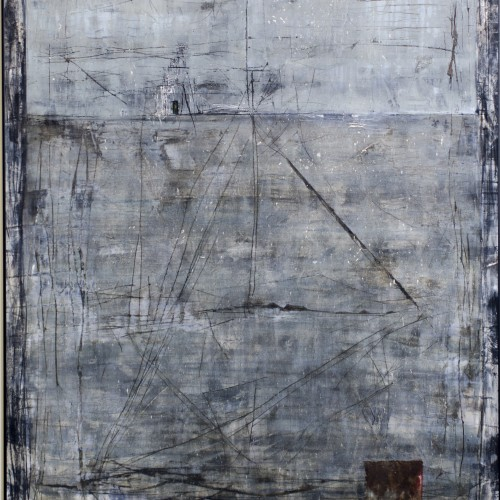(Sold) Tower of Babel, Canvas, Bronze & Oil on MDF, 116x170cm, 2014
