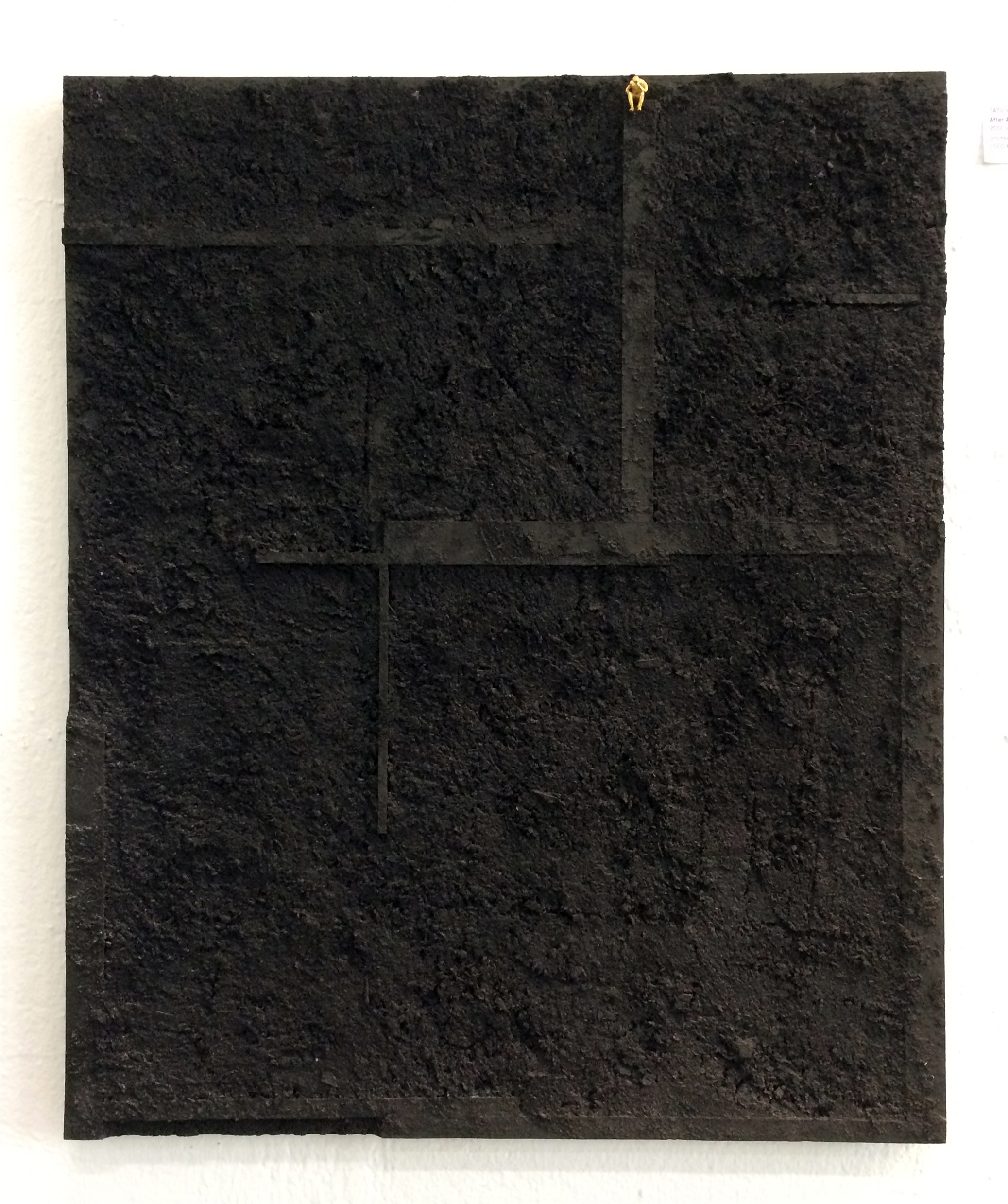 After all, 4x52x63cm, Black colored MDF & 24k golded bronze, 2017